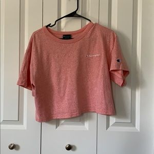 Champion Tops - Champion Heathered Coral Crop Top - M